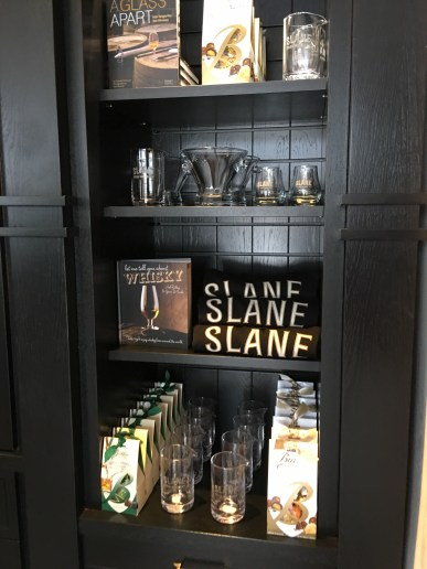 The gift shop at Slane Distillery